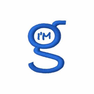 Basic Grey Zip Hoodie w Blue Logo