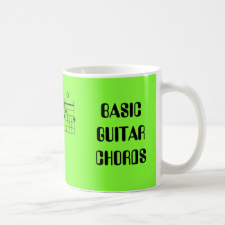 BASIC GUITAR CHORDS COFFEE MUG