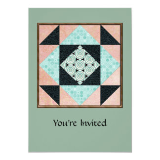Basic Hourglass Patch Turquoise & Peach Card