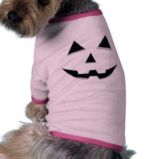 Basic Jack-O-Lantern Shape Design Doggie Tshirt
