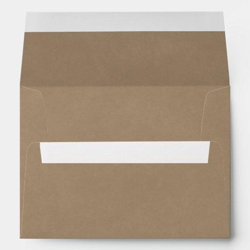 Basic Kraft Paper Wedding Invitation Envelope
