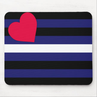 Basic Leather Pride Flag Mouse Pad