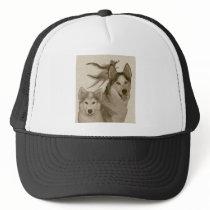 Basic logo antique trucker hat