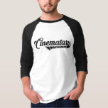"""Basic Logo Baseball Tee (Men&#39;s)<br><div class=""""desc"""">The basic Cinematary logo on a black-and-white baseball tee. The standard issue uniform of young critics watching old movies.</div>"""