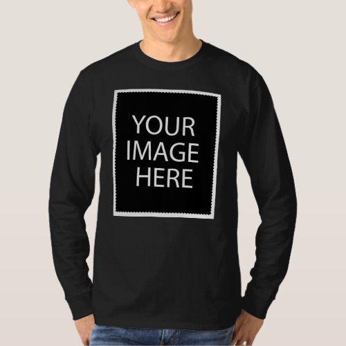 Basic Long Sleeve Black T_Shirt