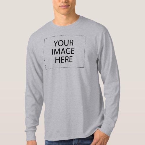 Basic Long Sleeve Grey T_Shirt