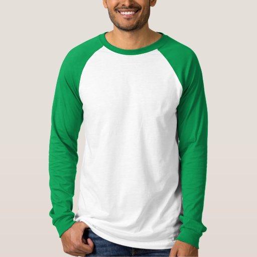 Basic Long Sleeve Raglan White Kelly Green Shirt Zazzle