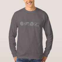 Basic Long Sleeve - Silver logo with alanfraze.com T-Shirt