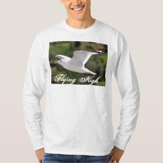 Basic Long Sleeve with sea gull flying high Tee Shirt