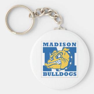 Basic Madison Bulldogs Keychain