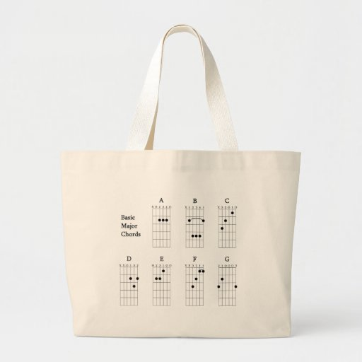 Basic Major Chords Canvas Bags