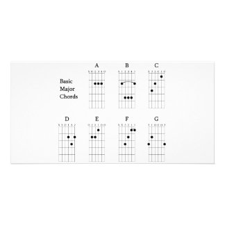 Basic Major Chords Card
