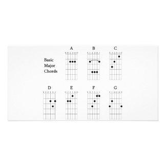 Basic Major Chords Card