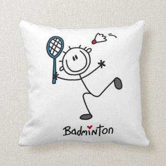 Basic Male Stick Figure Badminton Pillow