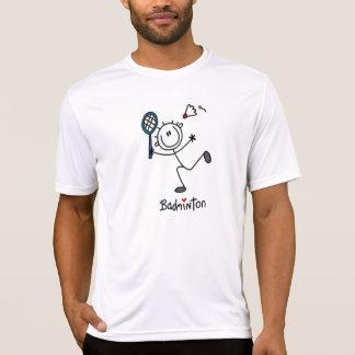 Basic Male Stick Figure Badminton Tee Shirt