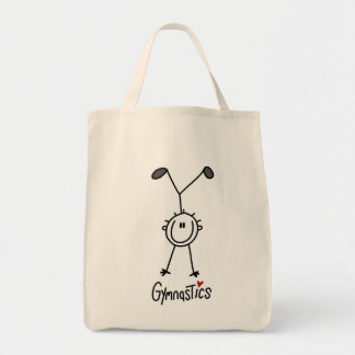 Basic Male Stick Figure Gymast T-shirts and Gifts Canvas Bag
