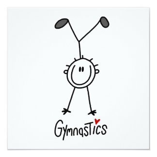 Basic Male Stick Figure Gymast T-shirts and Gifts Card