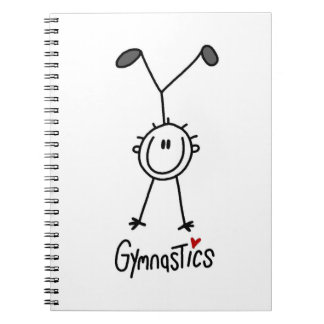 Basic Male Stick Figure Gymast T-shirts and Gifts Notebooks