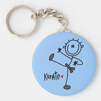 Basic Male Stick Figure Karate T-shirts and Gifts Basic Round Button Keychain
