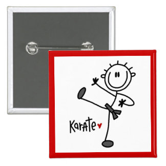 Basic Male Stick Figure Karate T-shirts and Gifts Buttons