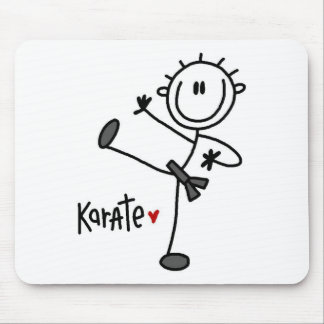 Basic Male Stick Figure Karate T-shirts and Gifts Mouse Pad