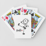 Basic Male Stick Figure Karate T-shirts and Gifts Bicycle Playing Cards