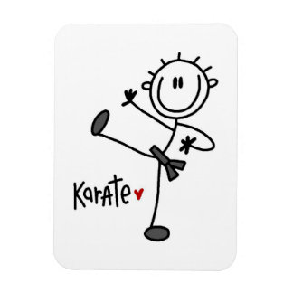 Basic Male Stick Figure Karate T-shirts and Gifts Rectangle Magnet