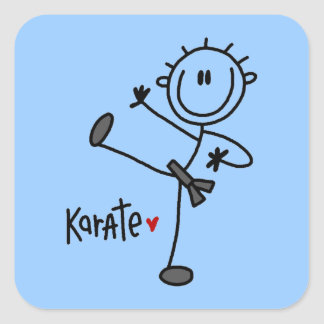 Basic Male Stick Figure Karate T-shirts and Gifts Sticker