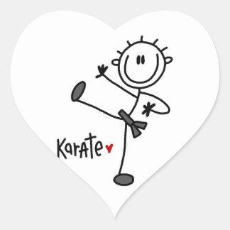 Basic Male Stick Figure Karate T-shirts and Gifts Stickers