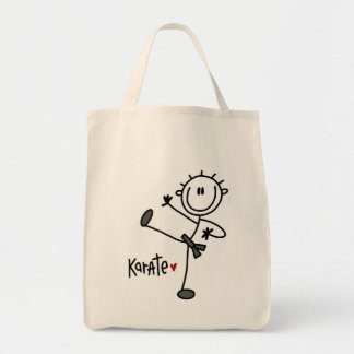 Basic Male Stick Figure Karate T-shirts and Gifts Tote Bag