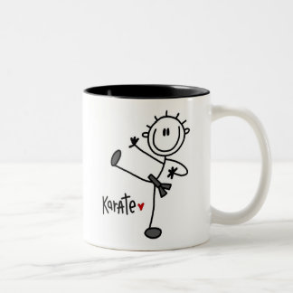 Basic Male Stick Figure Karate T-shirts and Gifts Two-Tone Coffee Mug
