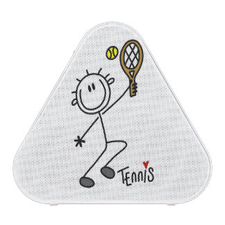 Basic Male Stick Figure Tennis Player Bluetooth Speaker