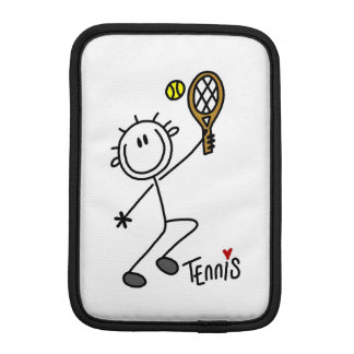 Basic Male Stick Figure Tennis Player iPad Mini Sleeve
