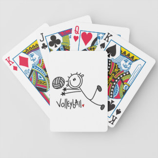 Basic Male Stick Figure Volleyball Bicycle Playing Cards