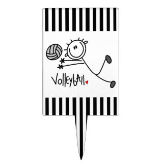 Basic Male Stick Figure Volleyball Cake Toppers