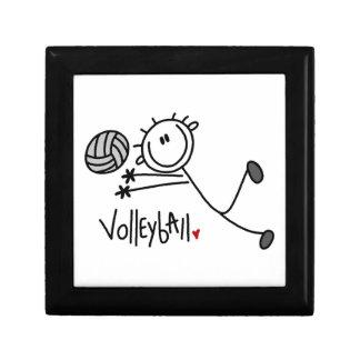 Basic Male Stick Figure Volleyball Keepsake Boxes