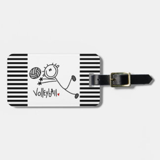 Basic Male Stick Figure Volleyball Tags For Bags
