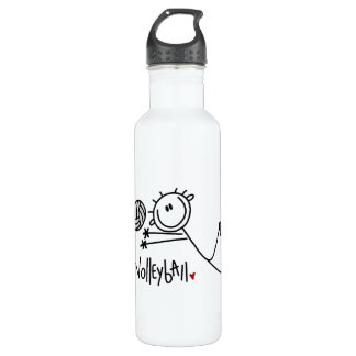 Basic Male Stick Figure Volleyball 24oz Water Bottle