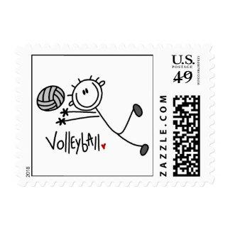 Basic Male Stick Figure Volleyball Postage
