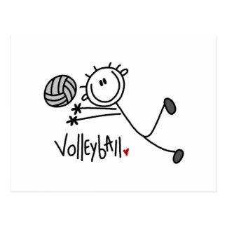 Basic Male Stick Figure Volleyball Postcard