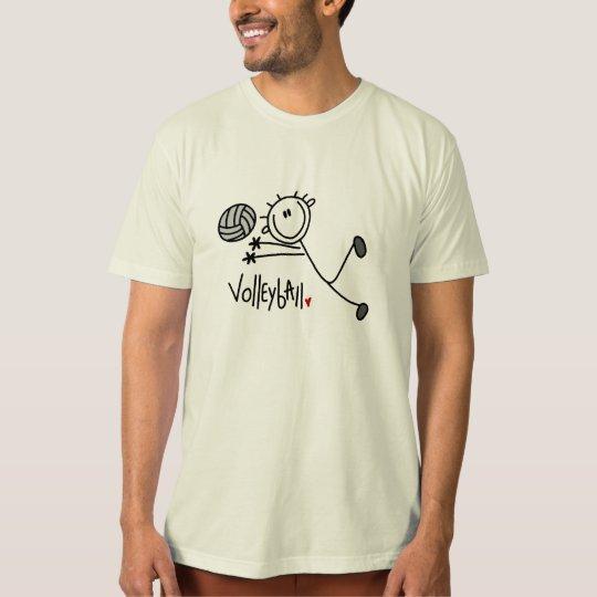 Basic Male Stick Figure Volleyball T-Shirt