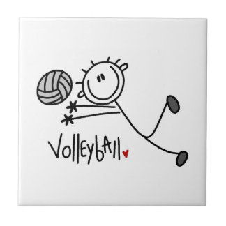 Basic Male Stick Figure Volleyball Tile