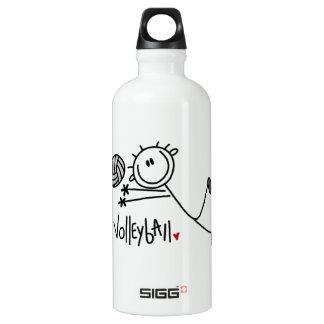 Basic Male Stick Figure Volleyball Water Bottle