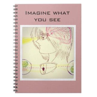 Basic Manga Style Brain-Eye Sight Diagram Notebook