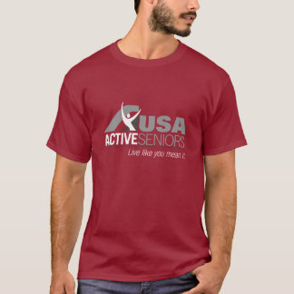 Basic Maroon T-shirt with USAAS logo