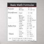 Basic Math Formulas Print