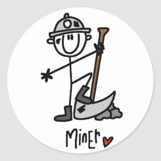 Basic Miner T-shirts and Gifts Classic Round Sticker