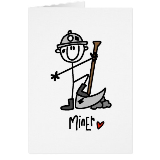 Basic Miner T-shirts and Gifts Greeting Card