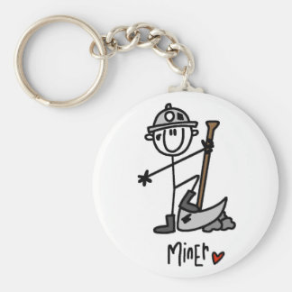Basic Miner T-shirts and Gifts Basic Round Button Keychain