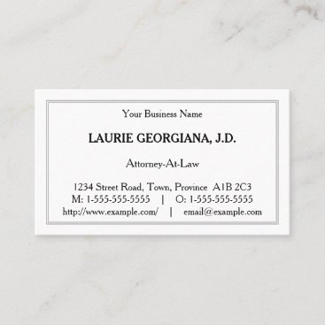 Basic, Minimalist Business Card